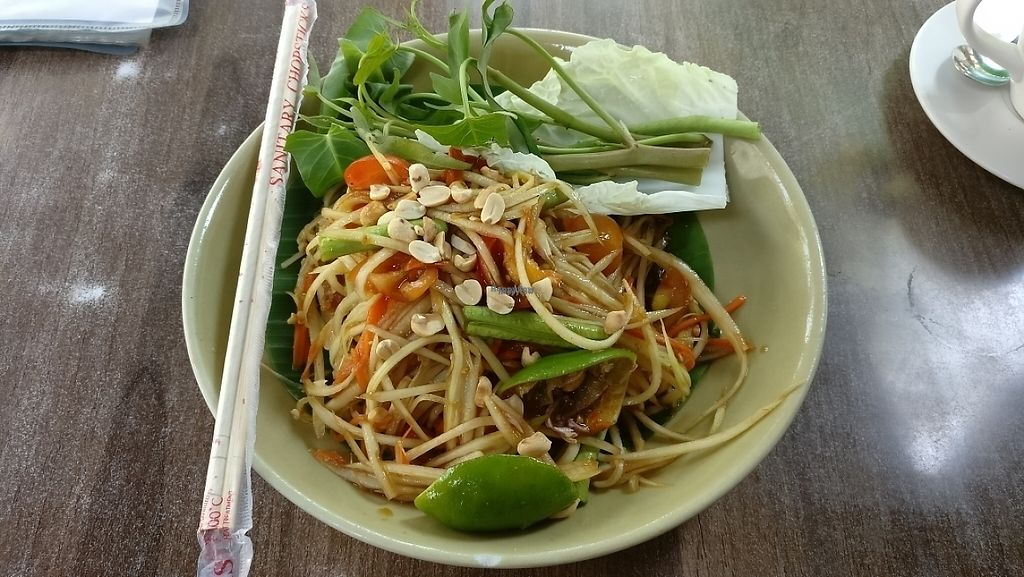 "Photo of Pun Pun Organic Vegetarian Restaurant - Wat Suan Dok  by <a href=""/members/profile/davidredstone"">davidredstone</a> <br/>Som Tam Thai (papaya salad)  <br/> March 22, 2017  - <a href='/contact/abuse/image/12006/239378'>Report</a>"