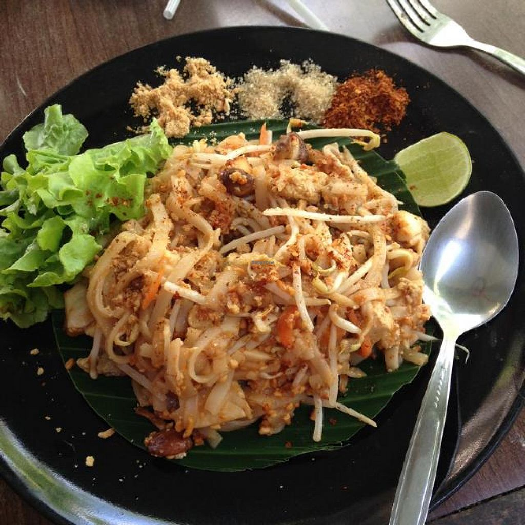 "Photo of Pun Pun Organic Vegetarian Restaurant - Wat Suan Dok  by <a href=""/members/profile/mikeybutt"">mikeybutt</a> <br/>pad thai no egg. vegan heaven.  <br/> November 17, 2014  - <a href='/contact/abuse/image/12006/85945'>Report</a>"
