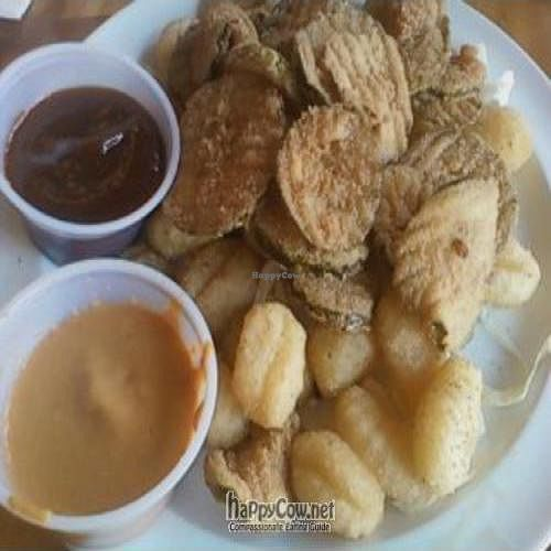 """Photo of CLOSED: Pure Luck  by <a href=""""/members/profile/Sonja%20and%20Dirk"""">Sonja and Dirk</a> <br/>fried pickles and potato pals (fried gnocchi) <br/> May 14, 2011  - <a href='/contact/abuse/image/12016/8649'>Report</a>"""