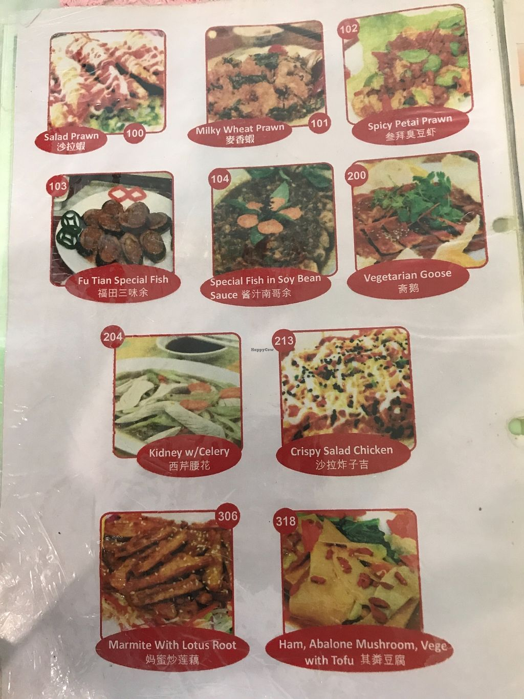 """Photo of Xin Fu Tien Vegetarian Restaurant  by <a href=""""/members/profile/neilmadhvani"""">neilmadhvani</a> <br/>Selected items from the menu (1/2) <br/> December 27, 2017  - <a href='/contact/abuse/image/12028/339638'>Report</a>"""
