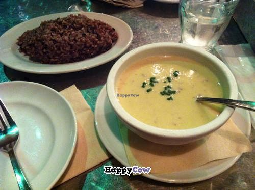 """Photo of Eat More Greens  by <a href=""""/members/profile/Meowmeow"""">Meowmeow</a> <br/>Cold sweet potato soup and rice <br/> August 31, 2013  - <a href='/contact/abuse/image/12049/54118'>Report</a>"""