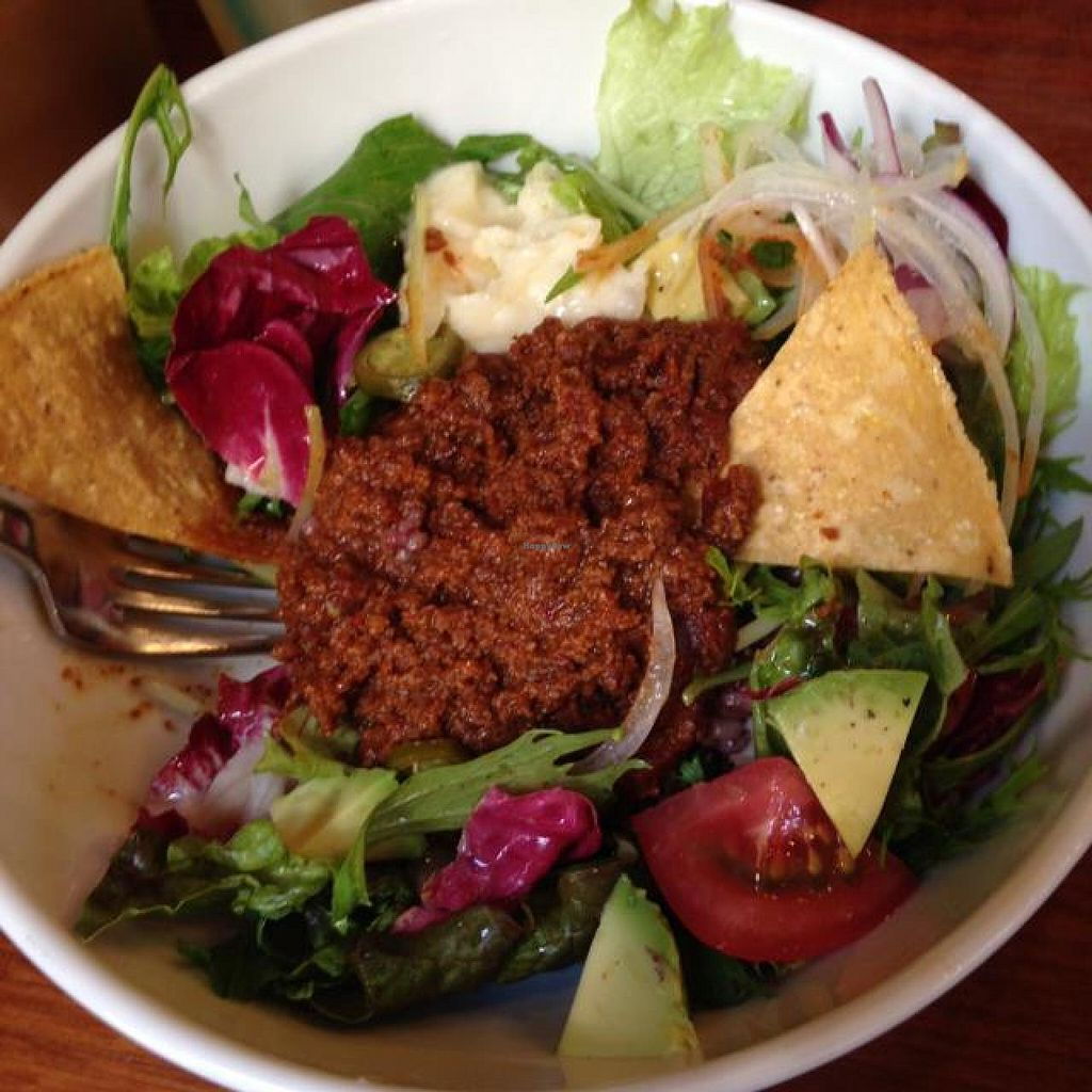 """Photo of Eat More Greens  by <a href=""""/members/profile/Cleverjenny"""">Cleverjenny</a> <br/>Lunch Special: Vegetarian Taco Salad <br/> May 23, 2014  - <a href='/contact/abuse/image/12049/70622'>Report</a>"""
