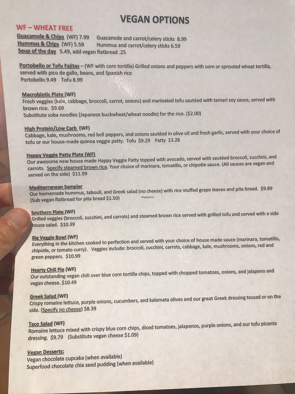 "Photo of A Moveable Feast Restauarant & Store  by <a href=""/members/profile/BobR"">BobR</a> <br/>Vegan menu from 03/16/2018 <br/> March 16, 2018  - <a href='/contact/abuse/image/12078/371421'>Report</a>"