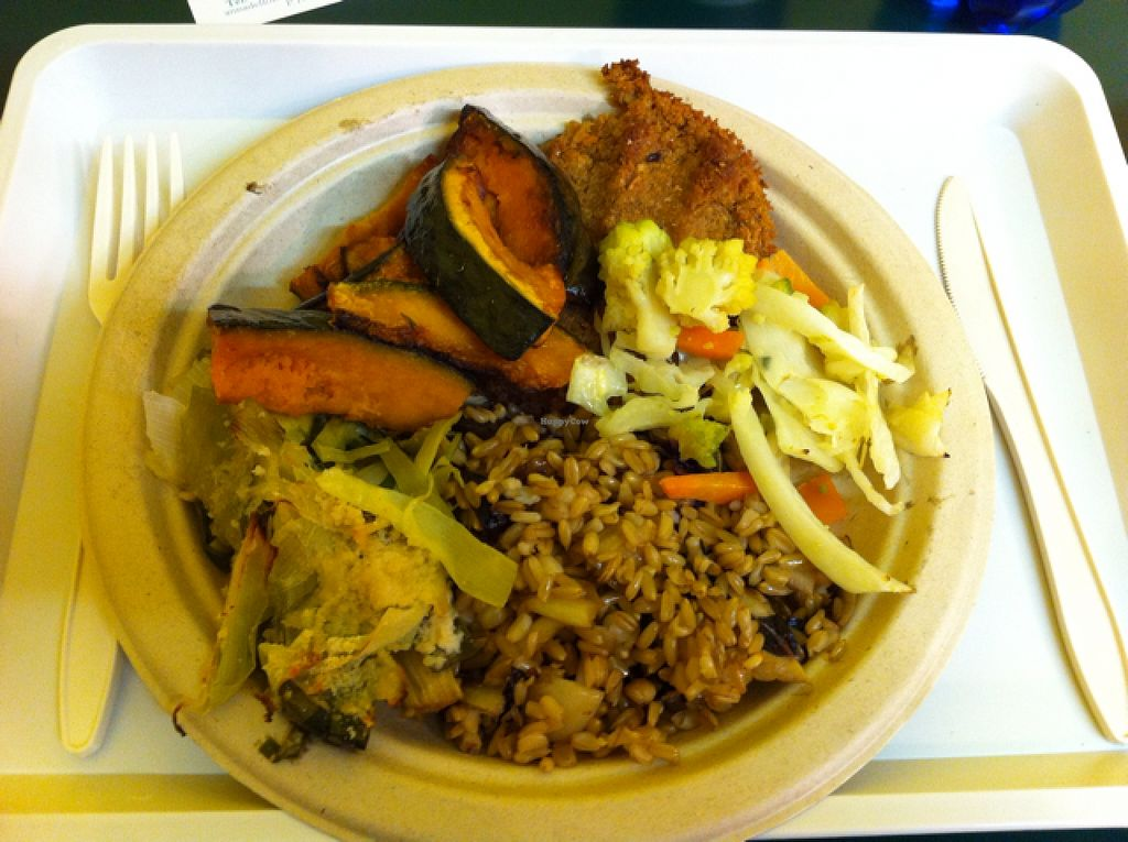 """Photo of Tathagata  by <a href=""""/members/profile/hokusai77"""">hokusai77</a> <br/>oats with chicory, mopur burger and mixed veggies <br/> October 2, 2015  - <a href='/contact/abuse/image/12103/119762'>Report</a>"""