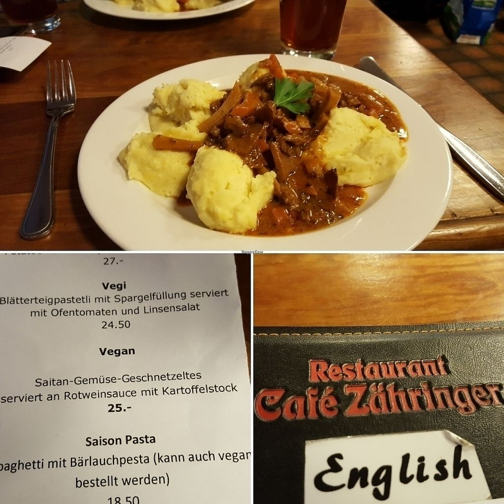 "Photo of Cafe Zaehringer  by <a href=""/members/profile/acadiechick"">acadiechick</a> <br/>seitan dish <br/> May 6, 2017  - <a href='/contact/abuse/image/1211/256320'>Report</a>"