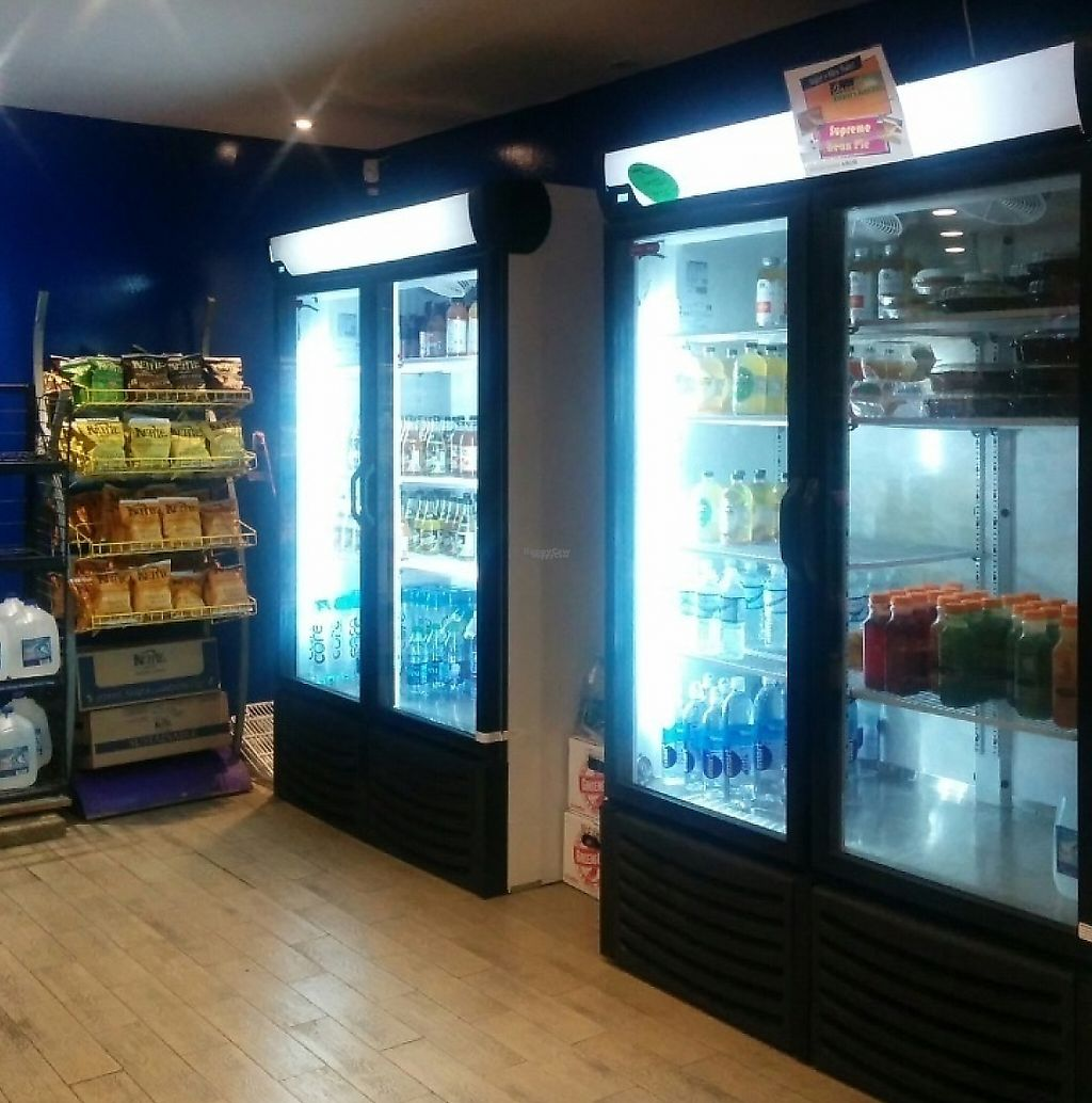 """Photo of Sunshine's Health Food Store and Vegetarian Deli  by <a href=""""/members/profile/MizzB"""">MizzB</a> <br/>Prepared juices, drinks, refrigerator case. Also has a fresh made juice bar <br/> January 28, 2017  - <a href='/contact/abuse/image/12137/228380'>Report</a>"""