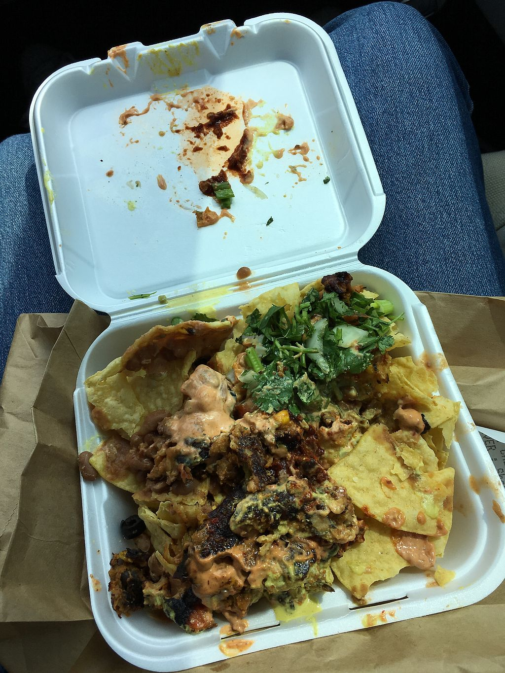 """Photo of Sunshine's Health Food Store and Vegetarian Deli  by <a href=""""/members/profile/ChristineLee"""">ChristineLee</a> <br/>Black Bean Nachos <br/> October 24, 2017  - <a href='/contact/abuse/image/12137/318236'>Report</a>"""