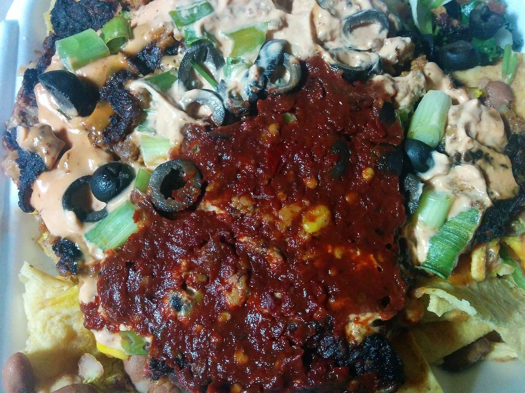 """Photo of Sunshine's Health Food Store and Vegetarian Deli  by <a href=""""/members/profile/MizzB"""">MizzB</a> <br/>Black Bean Nachos <br/> April 7, 2018  - <a href='/contact/abuse/image/12137/381781'>Report</a>"""