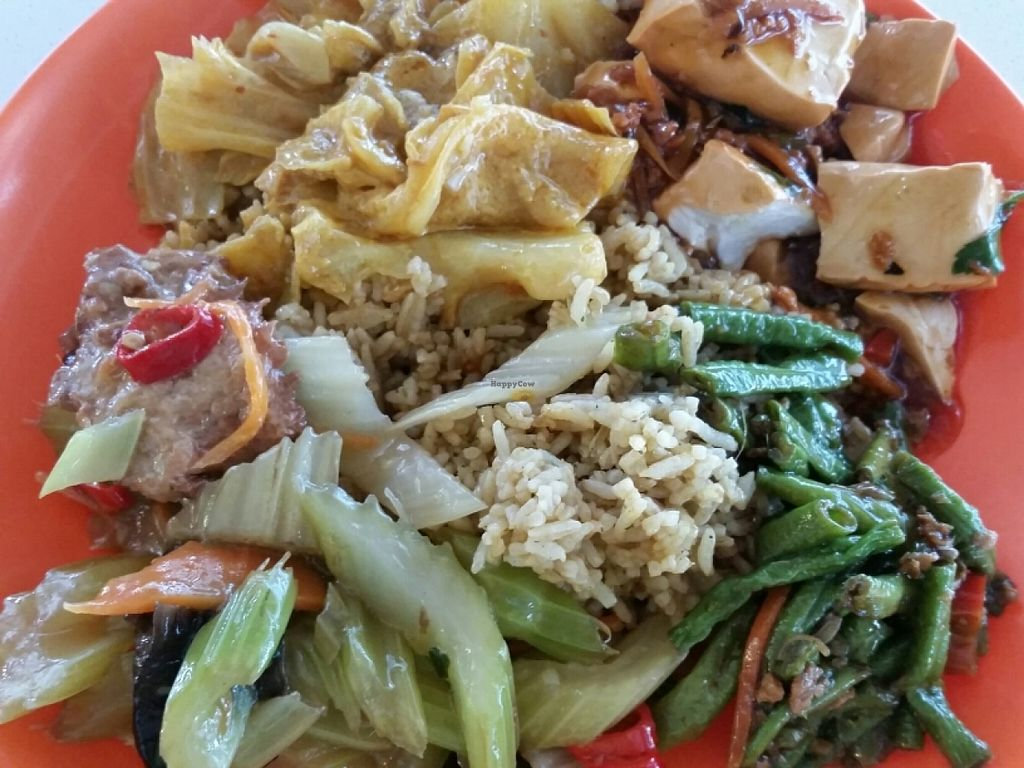 """Photo of Tian En Vegetarian Food  by <a href=""""/members/profile/JimmySeah"""">JimmySeah</a> <br/>Fried rice with vegetables from buffet selection <br/> June 26, 2016  - <a href='/contact/abuse/image/12167/156232'>Report</a>"""