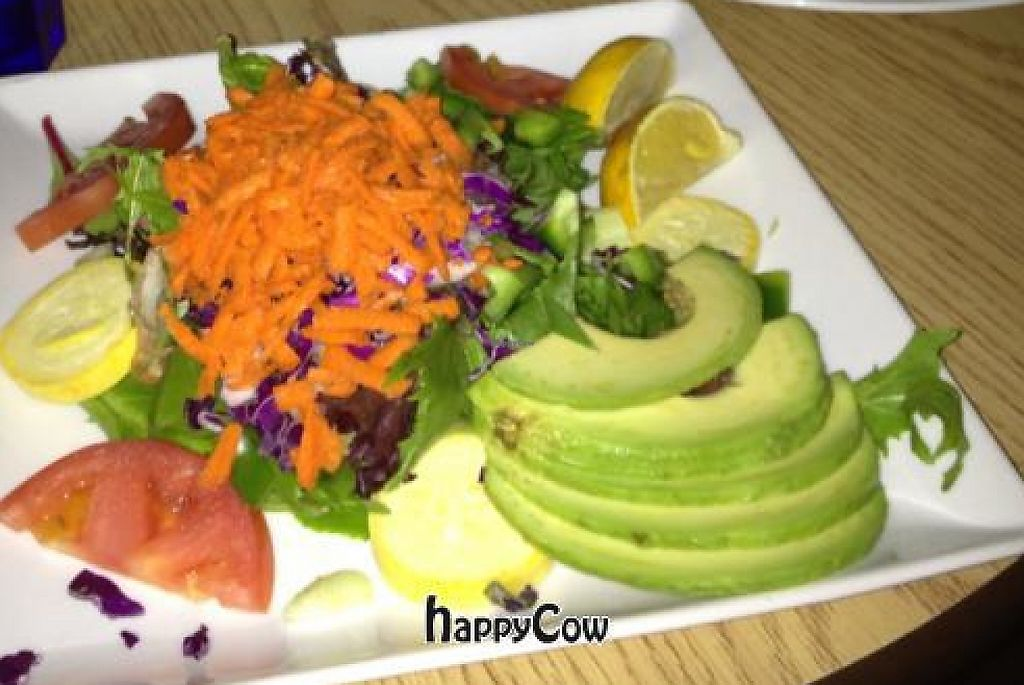 """Photo of Sweet Basil's Cafe  by <a href=""""/members/profile/Rawveganredhead"""">Rawveganredhead</a> <br/>salmon bruschetta, shrimp and artichokes, sweet basil salad <br/> January 6, 2013  - <a href='/contact/abuse/image/12179/218795'>Report</a>"""