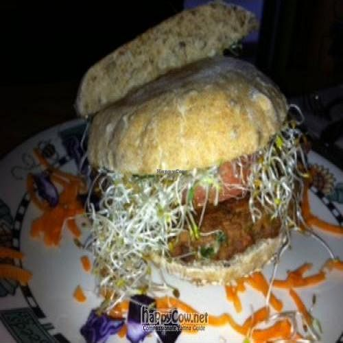 """Photo of CLOSED: Cafe Gaia  by <a href=""""/members/profile/gwild"""">gwild</a> <br/>Veggie Burger <br/> April 29, 2011  - <a href='/contact/abuse/image/12213/8449'>Report</a>"""