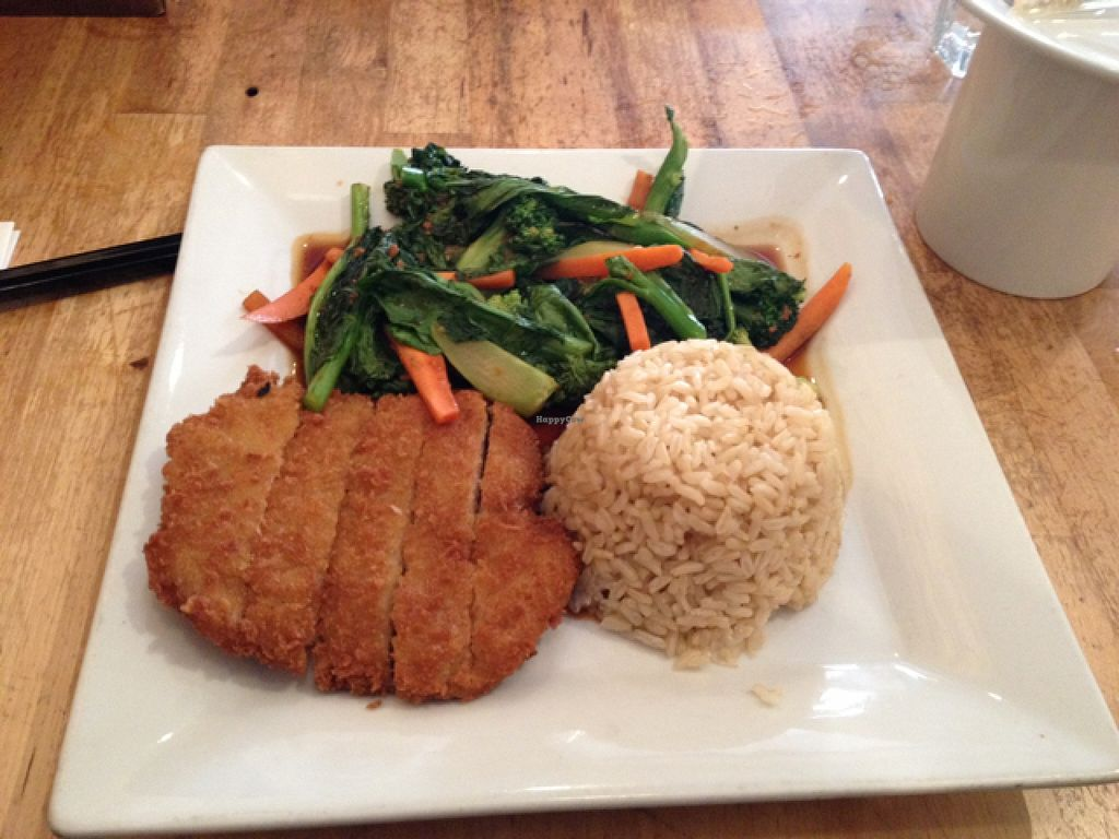 "Photo of Green Elephant Vegetarian Bistro  by <a href=""/members/profile/sophiefrenchfry"">sophiefrenchfry</a> <br/>Chinese broccoli and crispy beaded soy filet <br/> March 13, 2016  - <a href='/contact/abuse/image/12221/139854'>Report</a>"
