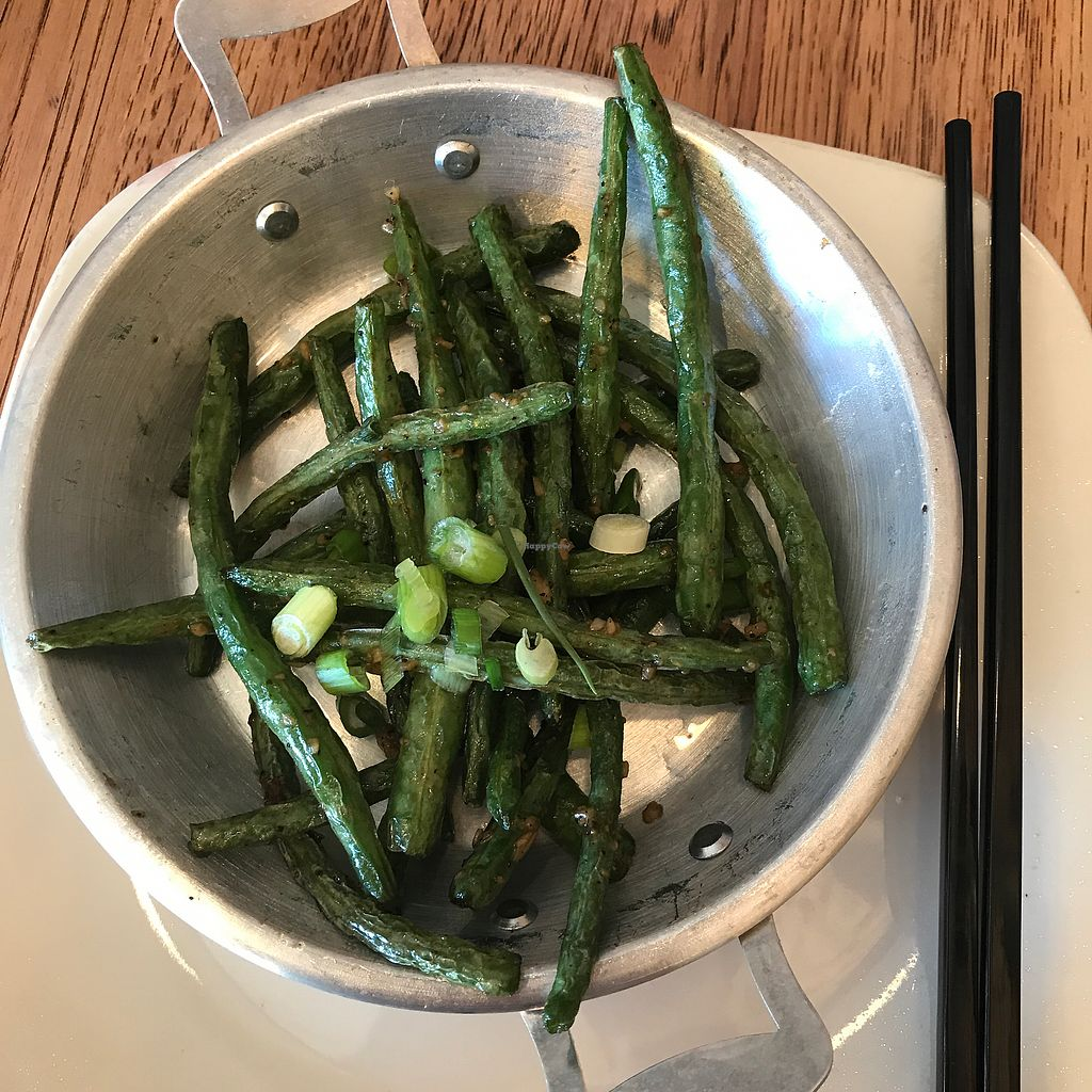 "Photo of Green Elephant Vegetarian Bistro  by <a href=""/members/profile/Sarah%20P"">Sarah P</a> <br/>garlic green beans app <br/> July 6, 2017  - <a href='/contact/abuse/image/12221/277118'>Report</a>"