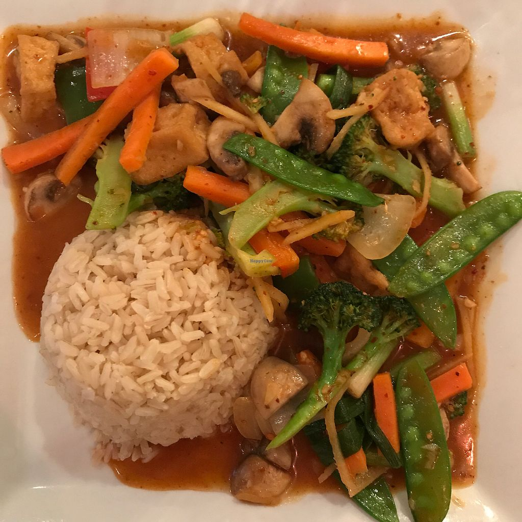 "Photo of Green Elephant Vegetarian Bistro  by <a href=""/members/profile/Sarah%20P"">Sarah P</a> <br/>ginger tofu <br/> August 17, 2017  - <a href='/contact/abuse/image/12221/293759'>Report</a>"