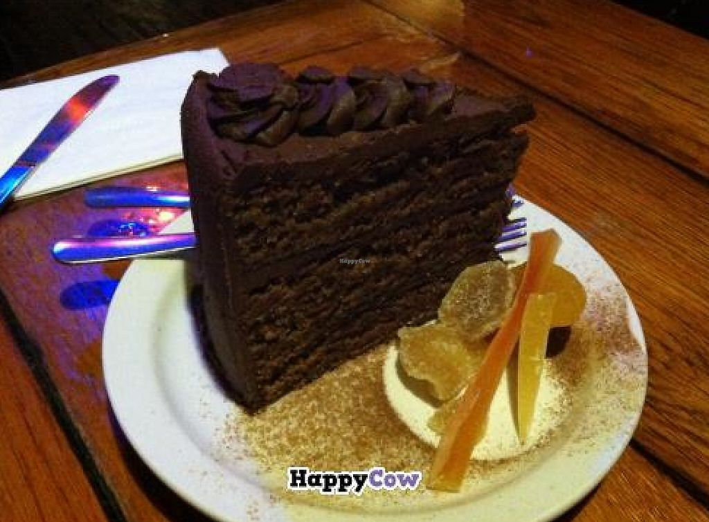 """Photo of Twisted Branch Tea Bazaar  by <a href=""""/members/profile/veganvixenamy"""">veganvixenamy</a> <br/>Delicious vegan cake!  <br/> September 11, 2013  - <a href='/contact/abuse/image/12282/188150'>Report</a>"""