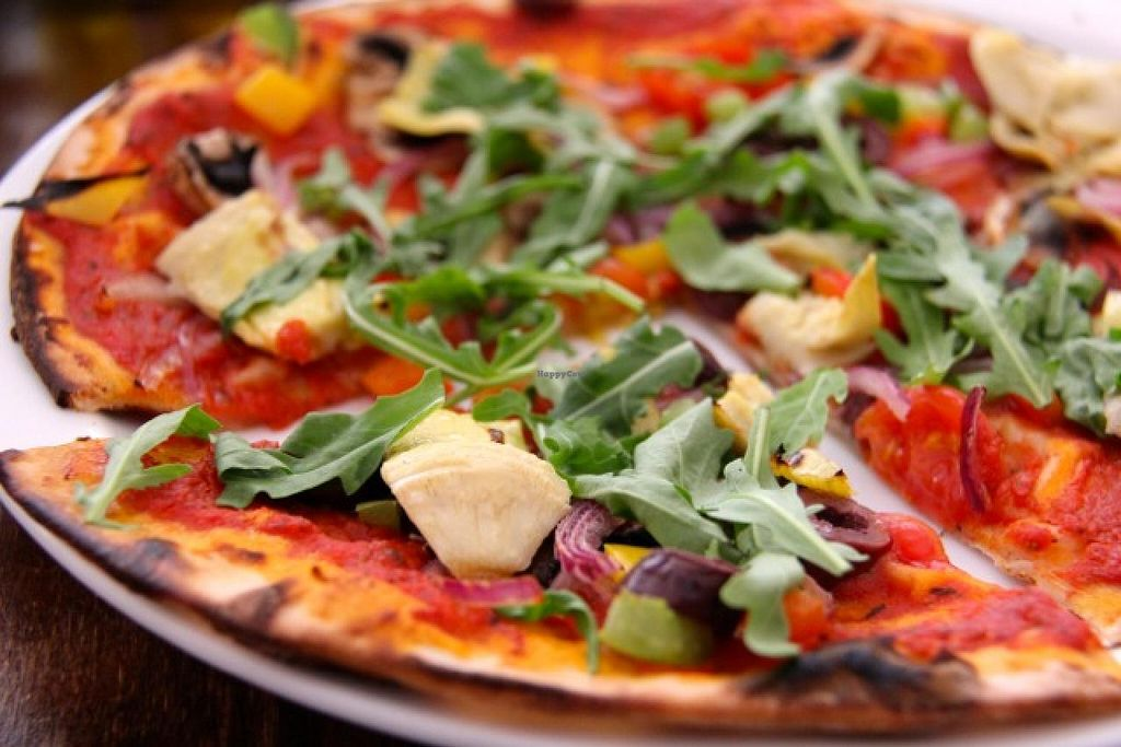"""Photo of Robertson's Organic Cafe  by <a href=""""/members/profile/trinitybourne"""">trinitybourne</a> <br/>Vegan (and gluten-free) pizza <br/> July 4, 2014  - <a href='/contact/abuse/image/12286/73162'>Report</a>"""