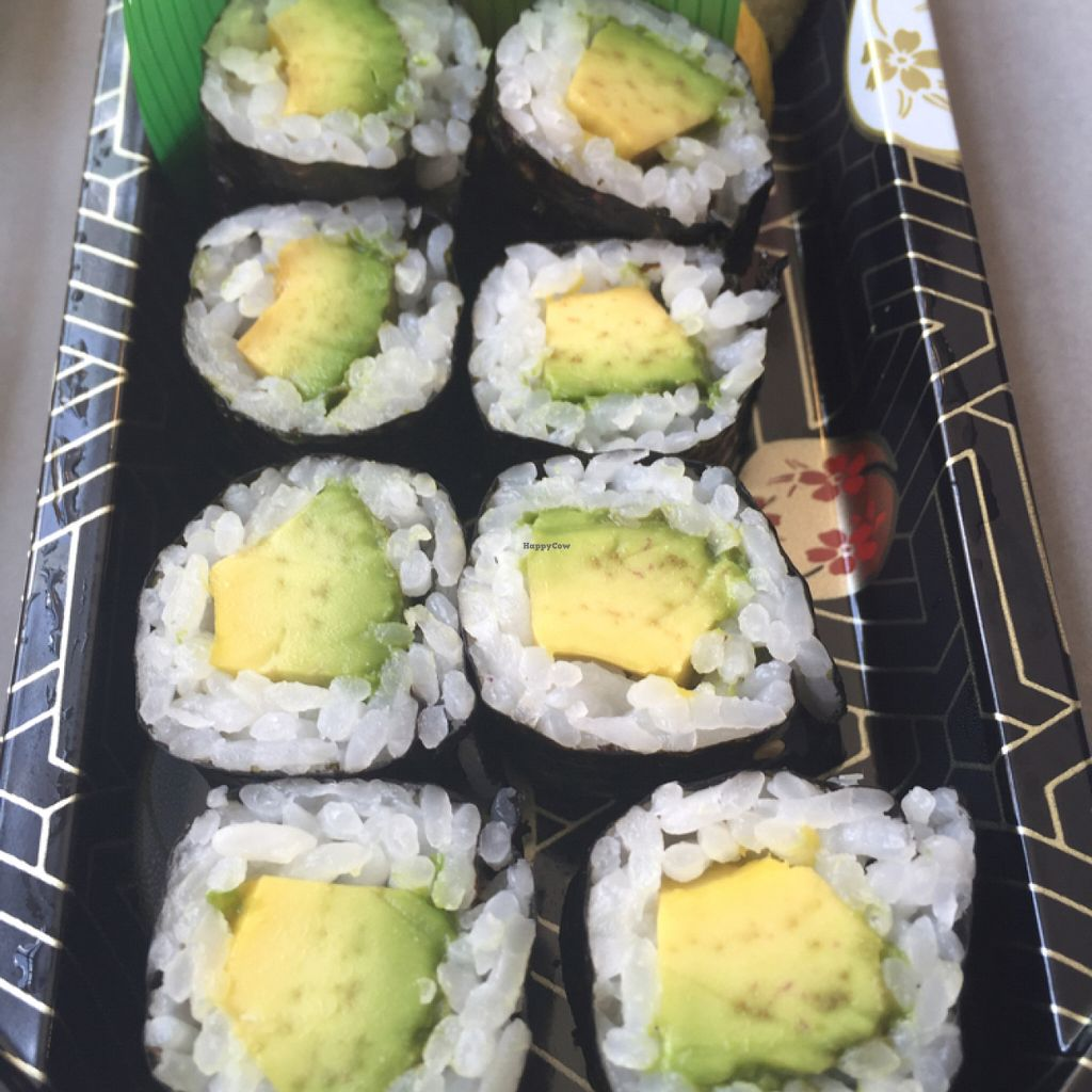 """Photo of Whole Foods Market - Arroyo  by <a href=""""/members/profile/VeganCookieLover"""">VeganCookieLover</a> <br/>avocado roll <br/> July 10, 2016  - <a href='/contact/abuse/image/12308/158814'>Report</a>"""