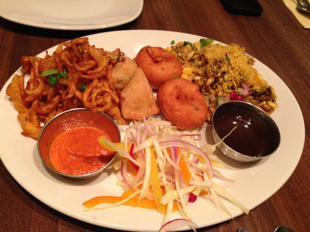 """Photo of Woodlands - Leicester Square  by <a href=""""/members/profile/slo0go"""">slo0go</a> <br/>sharing platter for two (vegan) <br/> August 23, 2016  - <a href='/contact/abuse/image/12375/171146'>Report</a>"""