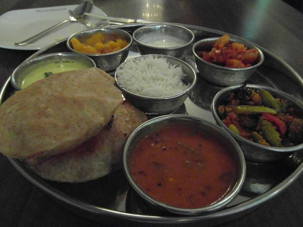 """Photo of Woodlands - Leicester Square  by <a href=""""/members/profile/Pamina"""">Pamina</a> <br/>Woodlands - Leicester Square, London: Mysore Thali <br/> August 21, 2014  - <a href='/contact/abuse/image/12375/77830'>Report</a>"""