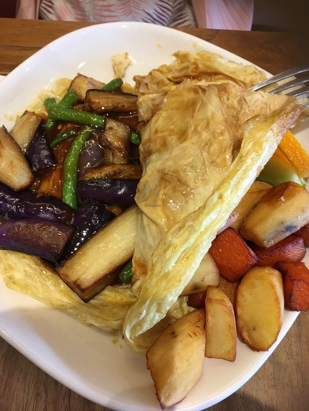 """Photo of Padmanadi  by <a href=""""/members/profile/Veganup"""" class=""""title__title"""">Veganup</a> <br/> Egan eggplant omelette (brunch menu) <br/> July 28, 2018  - <a href='/contact/abuse/image/1240/439198'>Report</a>"""