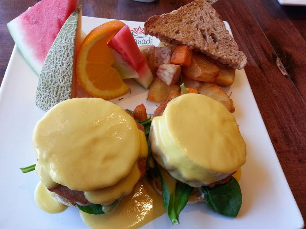"""Photo of Padmanadi  by <a href=""""/members/profile/kimward8"""" class=""""title__title"""">kimward8</a> <br/>Vegan Eggs Benedict <br/> March 23, 2014  - <a href='/contact/abuse/image/1240/66405'>Report</a>"""