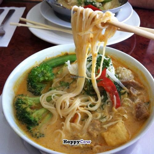"""Photo of CLOSED: Jean's Vegetarian Kitchen  by <a href=""""/members/profile/Meowmeow"""">Meowmeow</a> <br/>Laksa w/o shrimp <br/> July 16, 2013  - <a href='/contact/abuse/image/12458/51347'>Report</a>"""