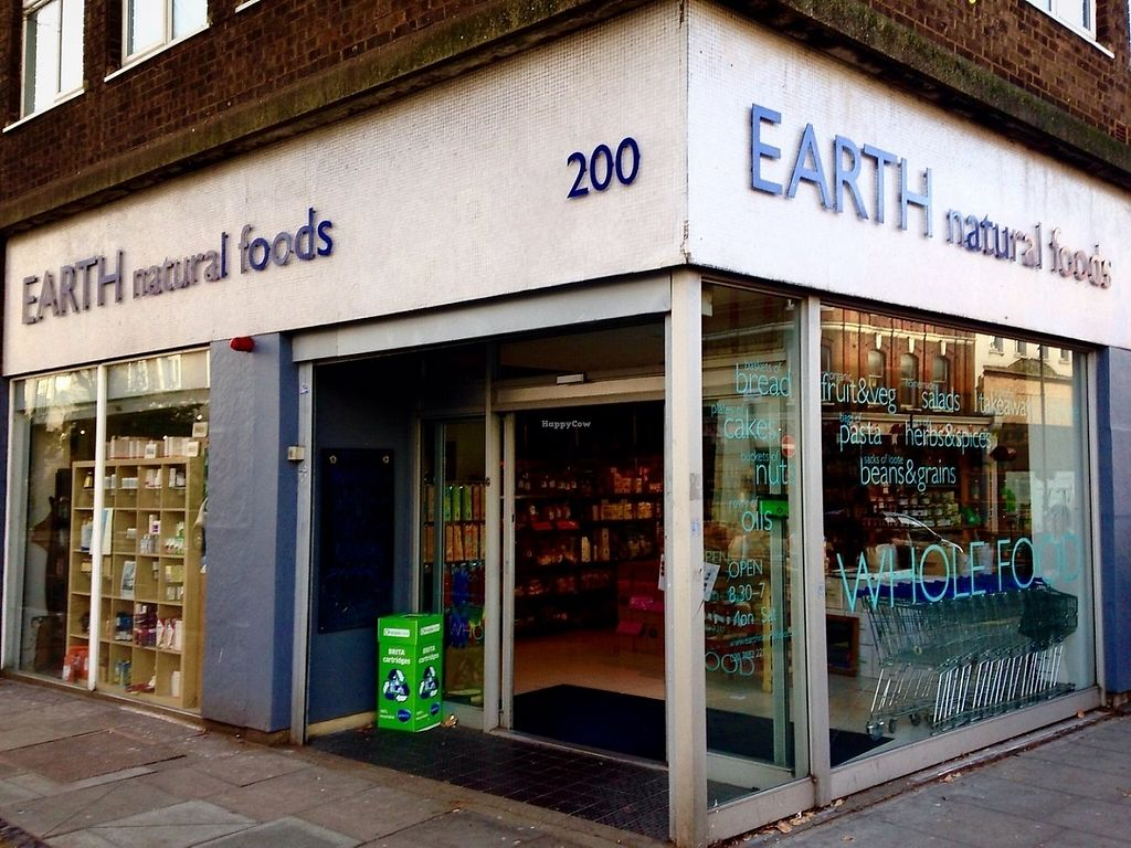 """Photo of Earth Natural Foods  by <a href=""""/members/profile/northlondonvegan"""">northlondonvegan</a> <br/>The main entrance to Earth Natural Foods, on Kentish Town Road <br/> May 29, 2017  - <a href='/contact/abuse/image/12470/263723'>Report</a>"""