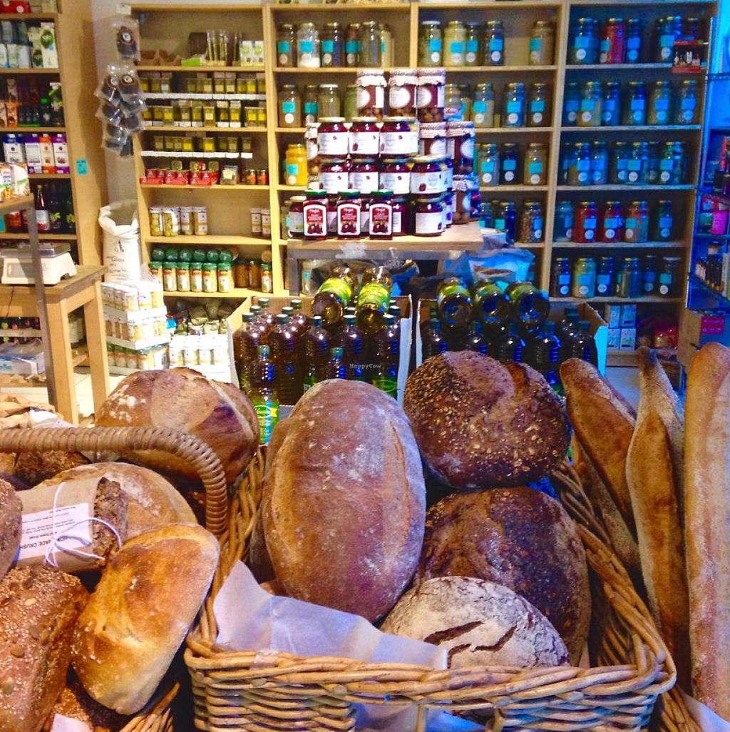 """Photo of Earth Natural Foods  by <a href=""""/members/profile/northlondonvegan"""">northlondonvegan</a> <br/>Fresh packaging-free bread delivered daily to Earth Natural Foods. Huge selection of loose herbs and spices in the background.  <br/> May 29, 2017  - <a href='/contact/abuse/image/12470/263724'>Report</a>"""