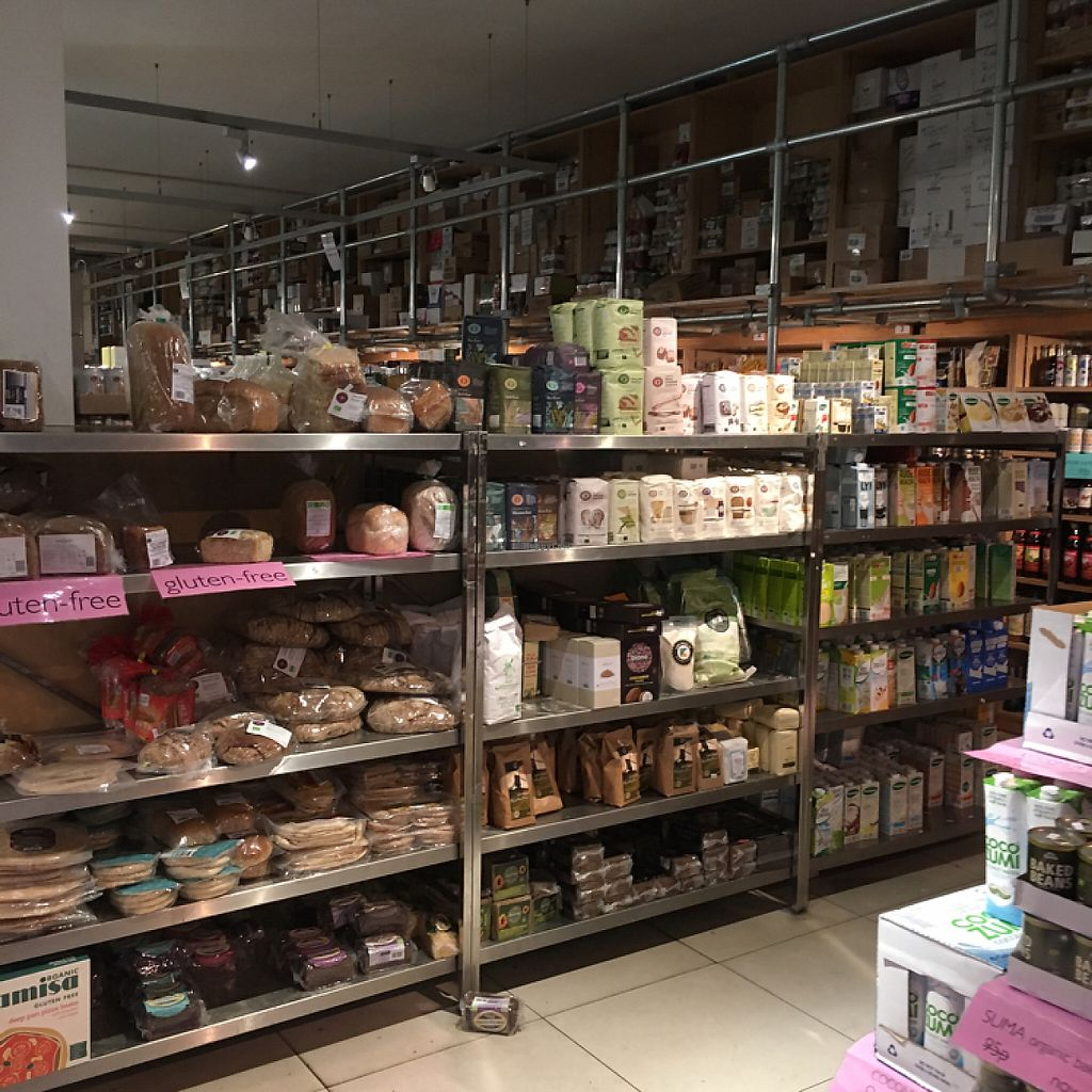 """Photo of Earth Natural Foods  by <a href=""""/members/profile/northlondonvegan"""">northlondonvegan</a> <br/>The front of the shop shows wide selection of breads (inc gluten-free), flours and plant milks <br/> June 4, 2017  - <a href='/contact/abuse/image/12470/265888'>Report</a>"""