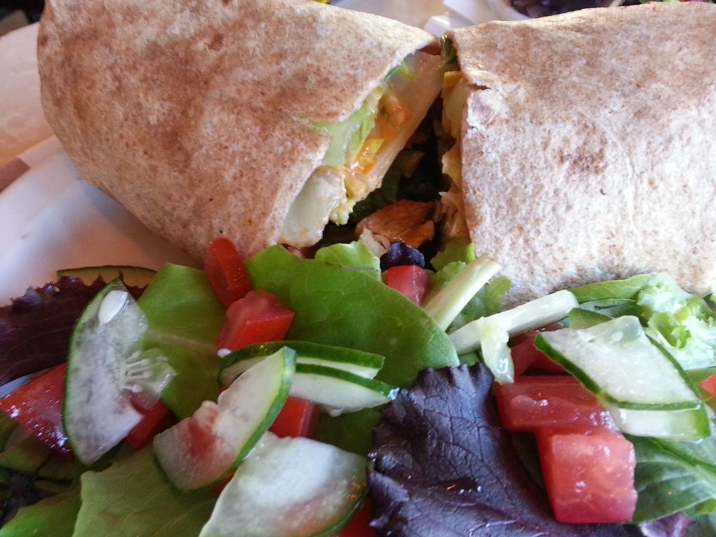 """Photo of CLOSED: MUSE on 8th  by <a href=""""/members/profile/eric"""">eric</a> <br/>Vegan chicken wrap <br/> July 16, 2015  - <a href='/contact/abuse/image/12483/109609'>Report</a>"""
