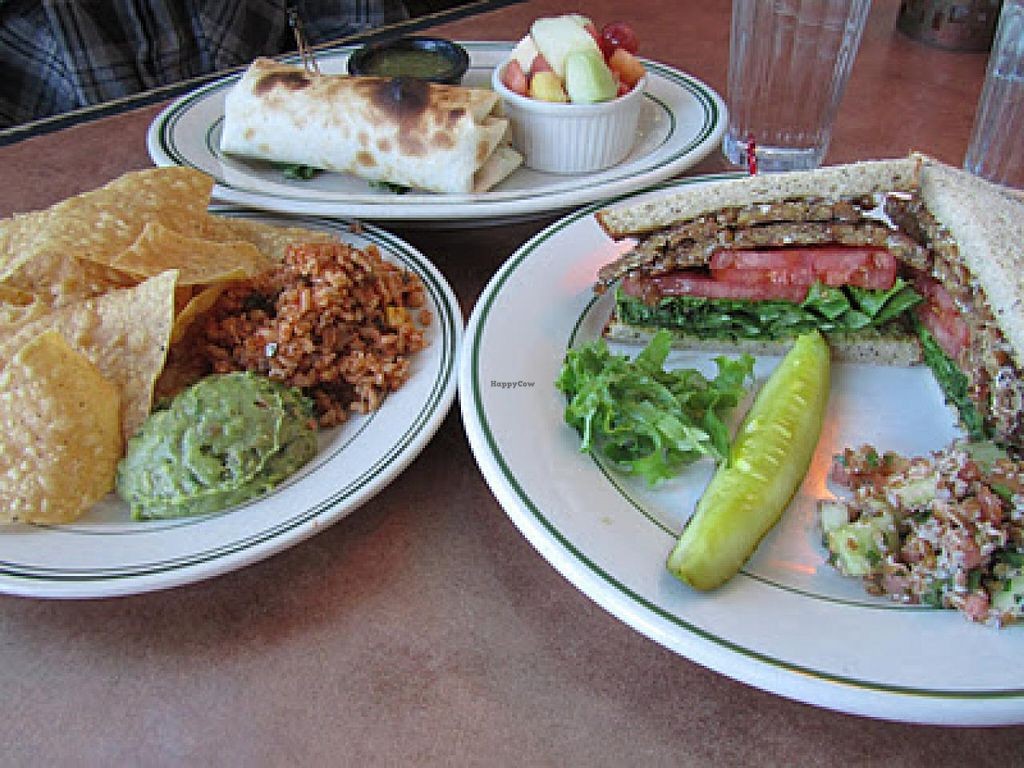 Photo of Beans and Barley Market & Cafe  by RamblingVegans <br/>Vegan BLT & Tofu burrito <br/> March 2, 2014  - <a href='/contact/abuse/image/12504/65115'>Report</a>