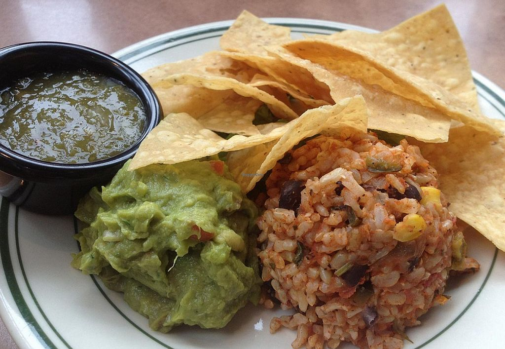 Photo of Beans and Barley Market & Cafe  by RamblingVegans <br/>You can make any burrito into a plate for a few extra dollars.  This is what you get with it.   <br/> March 2, 2014  - <a href='/contact/abuse/image/12504/65116'>Report</a>