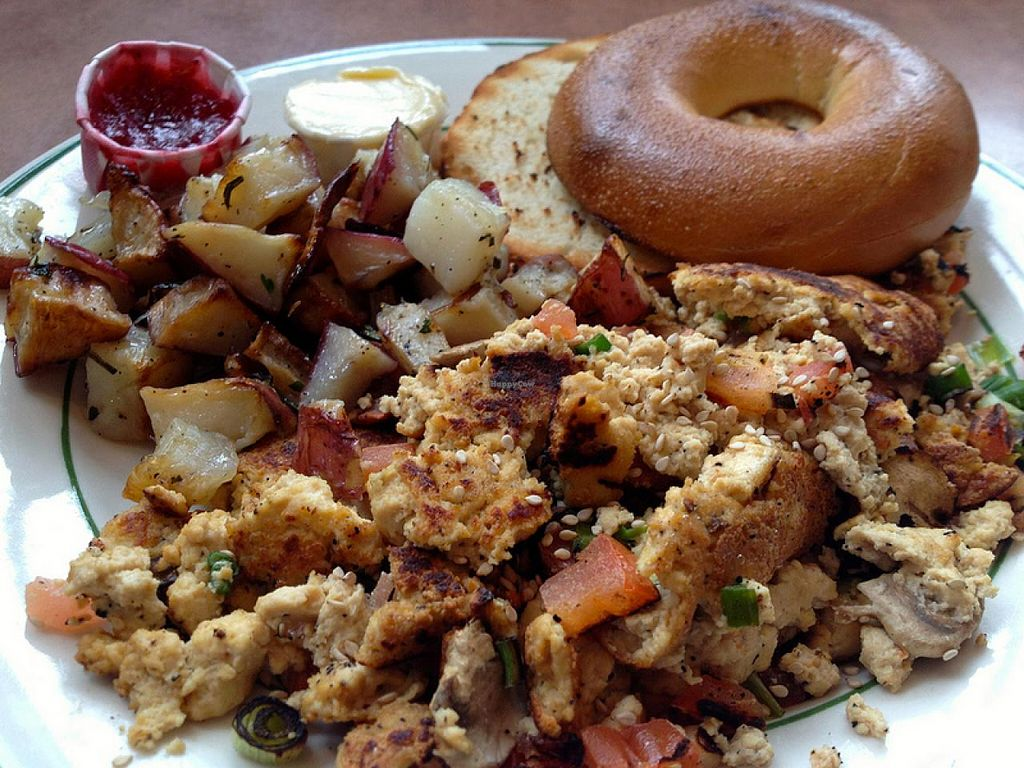 Photo of Beans and Barley Market & Cafe  by RamblingVegans <br/>Tofu scramble.  The best we've ever had!  <br/> March 2, 2014  - <a href='/contact/abuse/image/12504/65118'>Report</a>