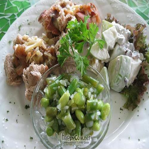 """Photo of CLOSED: Colonial Living  by <a href=""""/members/profile/cvxmelody"""">cvxmelody</a> <br/>Onion tart & salads (has cheese) <br/> January 27, 2011  - <a href='/contact/abuse/image/12525/7206'>Report</a>"""