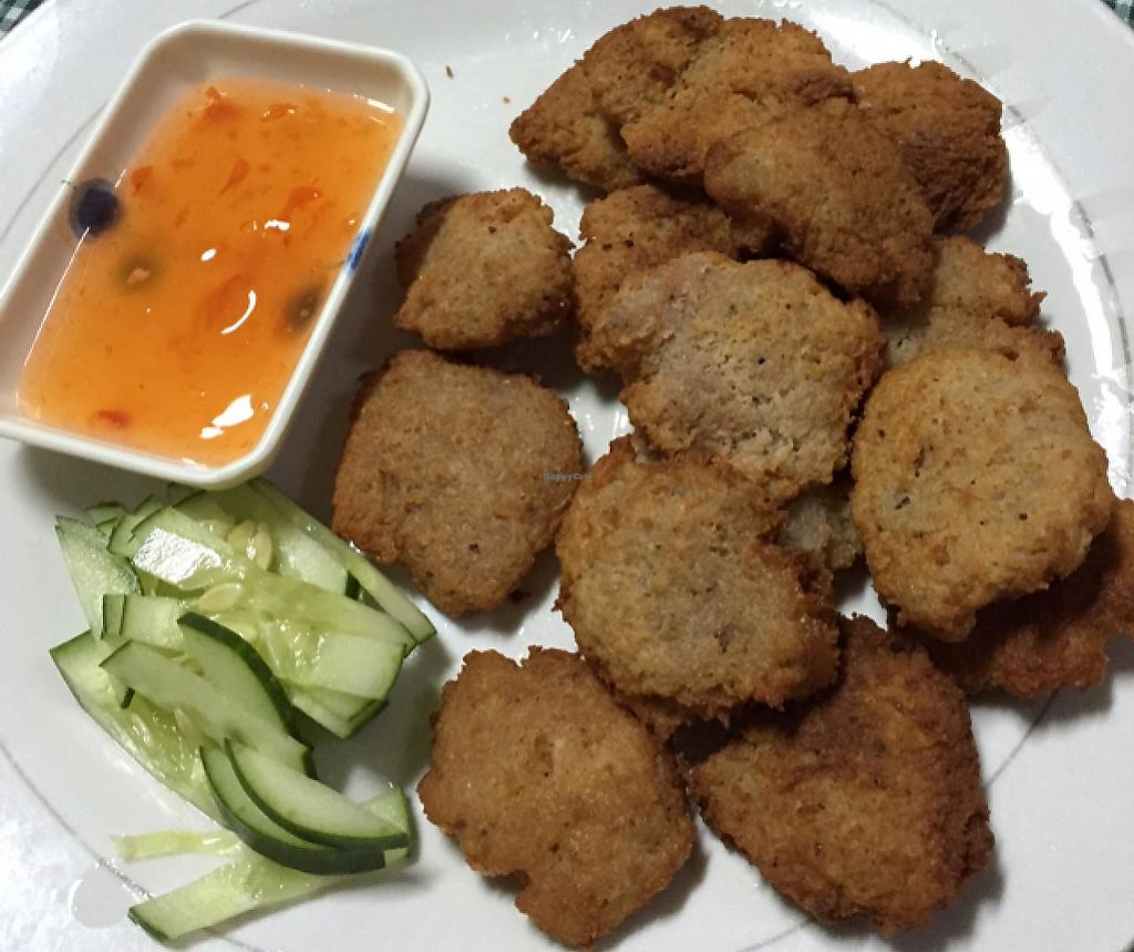 "Photo of Veggielife Wellness House  by <a href=""/members/profile/CharlesS"">CharlesS</a> <br/>fried veggie nuggets <br/> May 1, 2015  - <a href='/contact/abuse/image/12530/194620'>Report</a>"