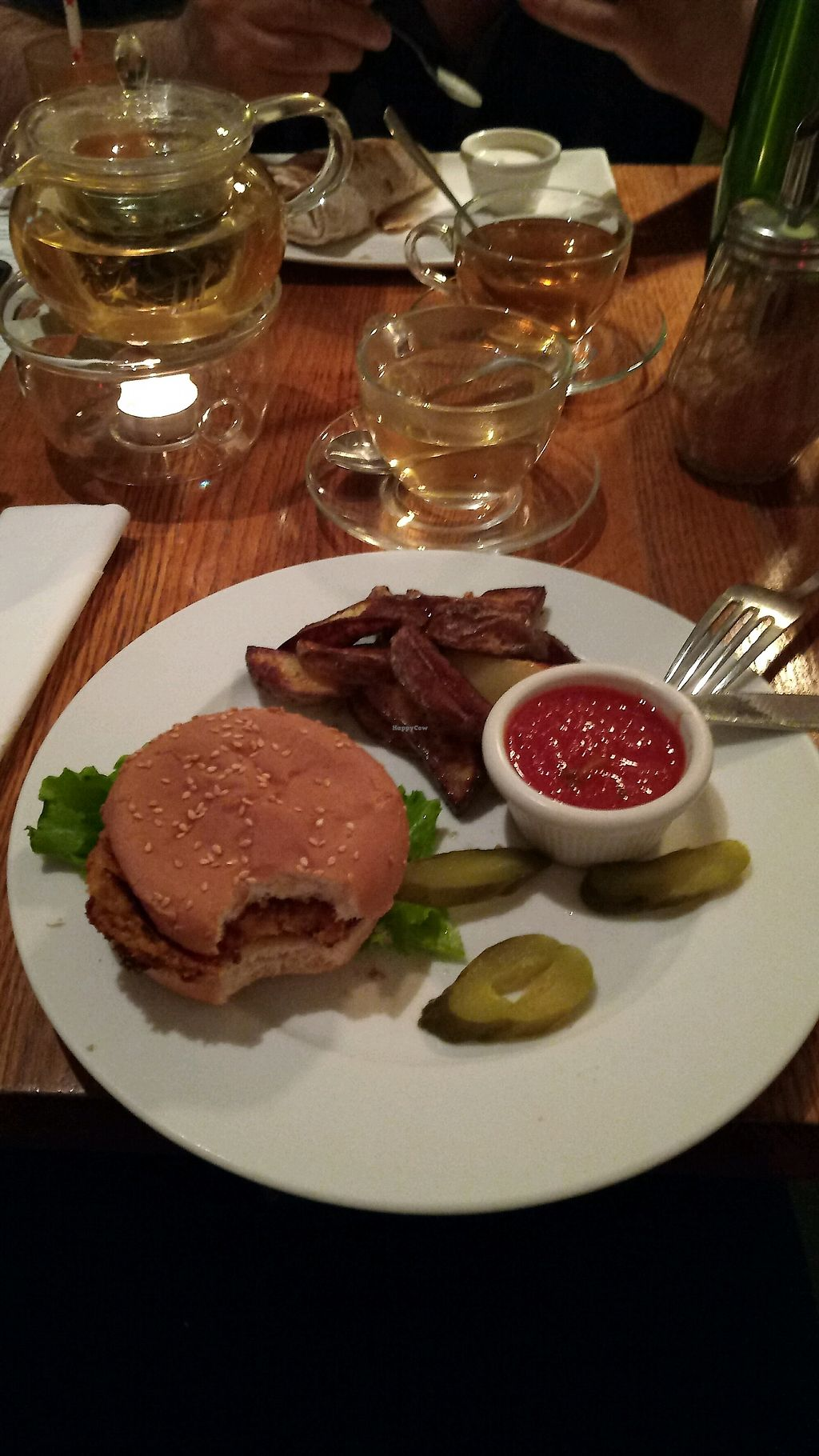 """Photo of Cafe Botanika  by <a href=""""/members/profile/AlicePechov%C3%A1"""">AlicePechová</a> <br/>happy cow burger <br/> February 19, 2018  - <a href='/contact/abuse/image/12603/361258'>Report</a>"""