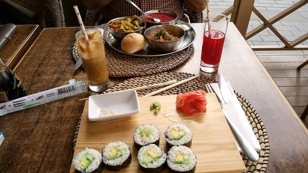"""Photo of Cafe Botanika  by <a href=""""/members/profile/AlicePechov%C3%A1"""">AlicePechová</a> <br/>sushi and lunch menu <br/> February 19, 2018  - <a href='/contact/abuse/image/12603/361261'>Report</a>"""