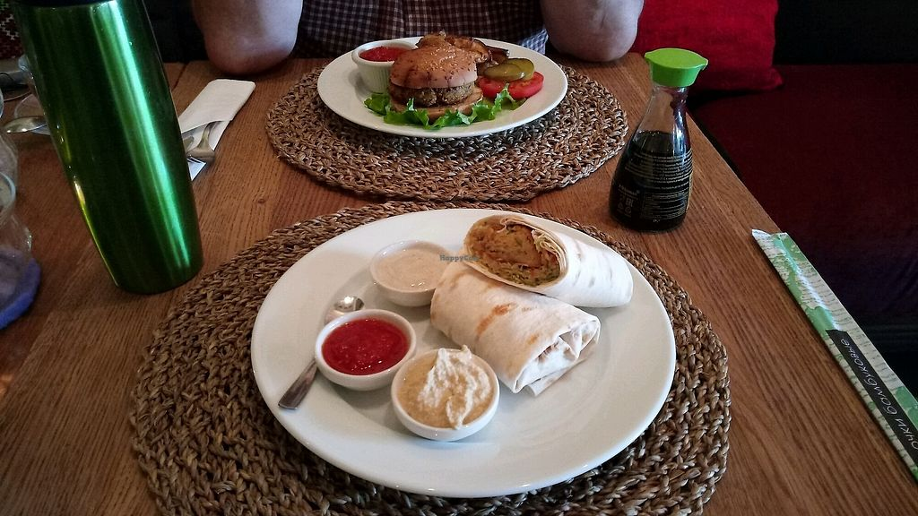 """Photo of Cafe Botanika  by <a href=""""/members/profile/AlicePechov%C3%A1"""">AlicePechová</a> <br/>tortilla and burger <br/> February 19, 2018  - <a href='/contact/abuse/image/12603/361262'>Report</a>"""