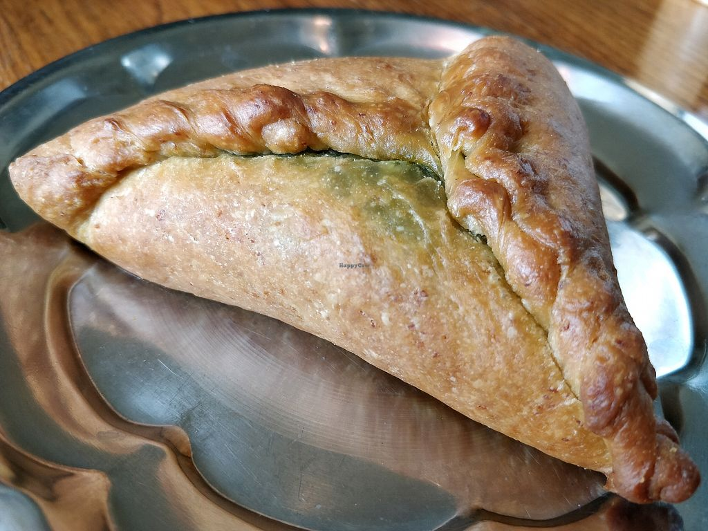 """Photo of Cafe Botanika  by <a href=""""/members/profile/JimmySeah"""">JimmySeah</a> <br/>home made pirozhki with spinach  <br/> May 2, 2018  - <a href='/contact/abuse/image/12603/393924'>Report</a>"""