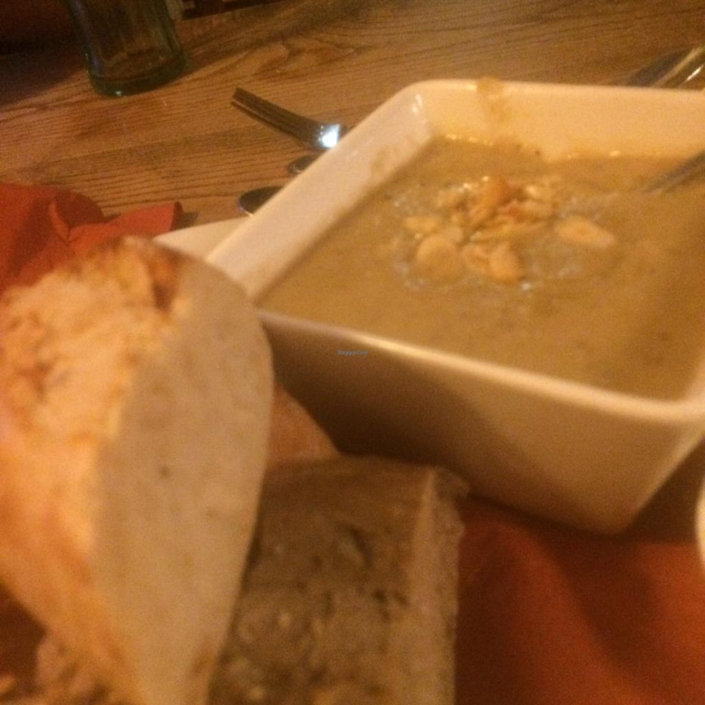 "Photo of The Vegetarian Red Lion  by <a href=""/members/profile/jjpink34"">jjpink34</a> <br/>very tasty soup with butter beans and almonds.  <br/> July 26, 2015  - <a href='/contact/abuse/image/12608/111066'>Report</a>"