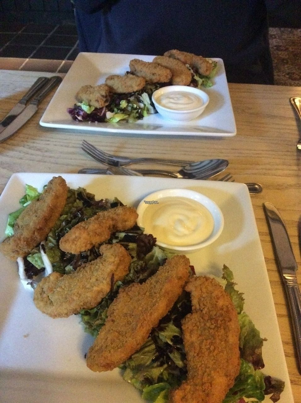 "Photo of The Vegetarian Red Lion  by <a href=""/members/profile/AndreaD"">AndreaD</a> <br/>vegan crispy breaded mushrooms <br/> October 13, 2016  - <a href='/contact/abuse/image/12608/181938'>Report</a>"