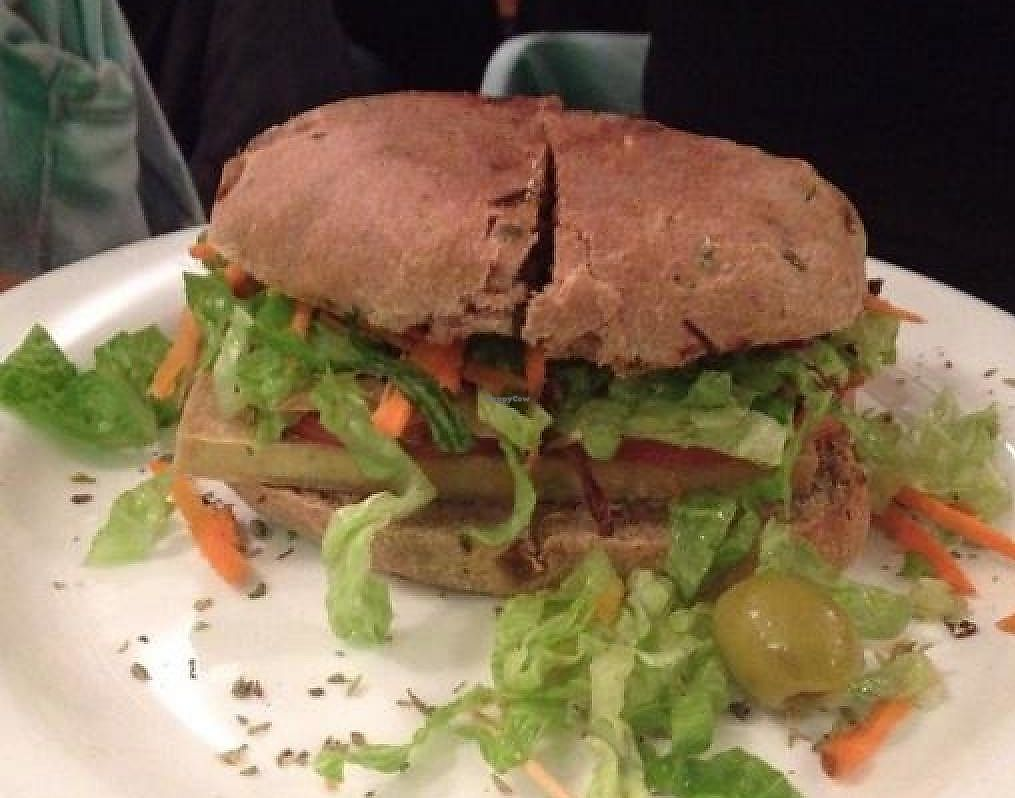 """Photo of CLOSED: Sattva 2  by <a href=""""/members/profile/jess-flowerchild"""">jess-flowerchild</a> <br/>tofu burger  <br/> May 22, 2014  - <a href='/contact/abuse/image/12640/279313'>Report</a>"""