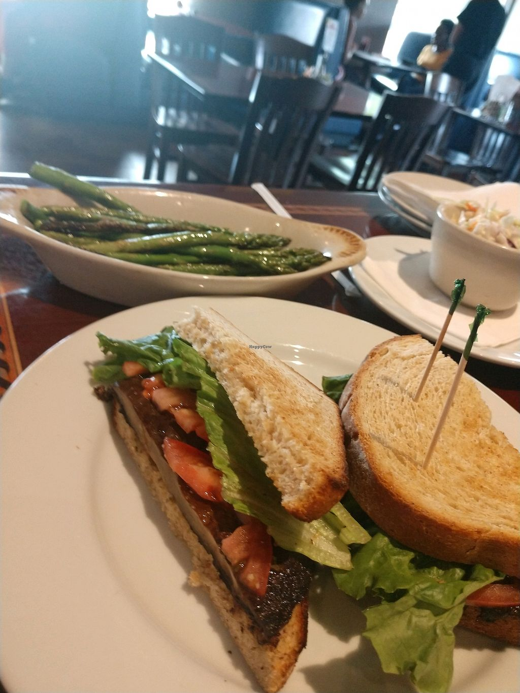 """Photo of Ethos Vegan Kitchen  by <a href=""""/members/profile/JoanDownen"""">JoanDownen</a> <br/>Fungus Among Us, Asparagus, and Cole Slaw <br/> May 18, 2018  - <a href='/contact/abuse/image/12683/401660'>Report</a>"""