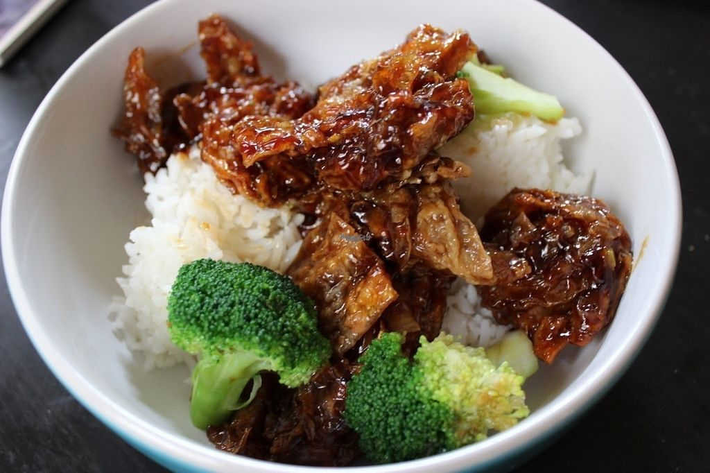 """Photo of Hunan Village  by <a href=""""/members/profile/veggie_htx"""">veggie_htx</a> <br/>Vegetarian General Tso's (VD2 on the menu) <br/> August 13, 2016  - <a href='/contact/abuse/image/12685/168410'>Report</a>"""