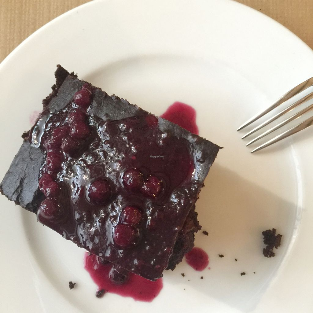 """Photo of L'Hortet  by <a href=""""/members/profile/AmandaAttard"""">AmandaAttard</a> <br/>Cacao and banana cake with blueberry cream <br/> July 8, 2016  - <a href='/contact/abuse/image/12712/158374'>Report</a>"""