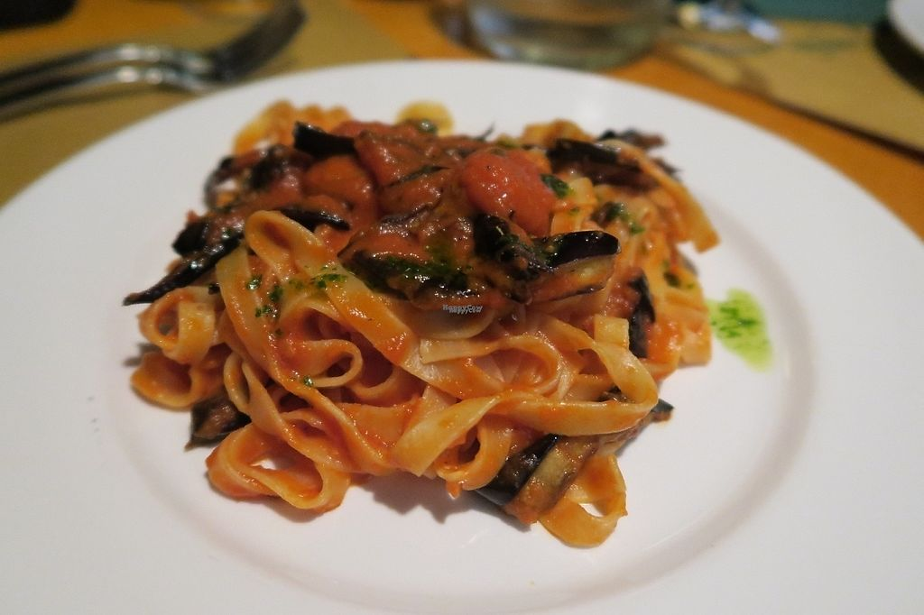 """Photo of La Zucca  by <a href=""""/members/profile/LilaZ"""">LilaZ</a> <br/>Pasta with Tomato sauce and eggplant <br/> November 29, 2016  - <a href='/contact/abuse/image/12774/195655'>Report</a>"""