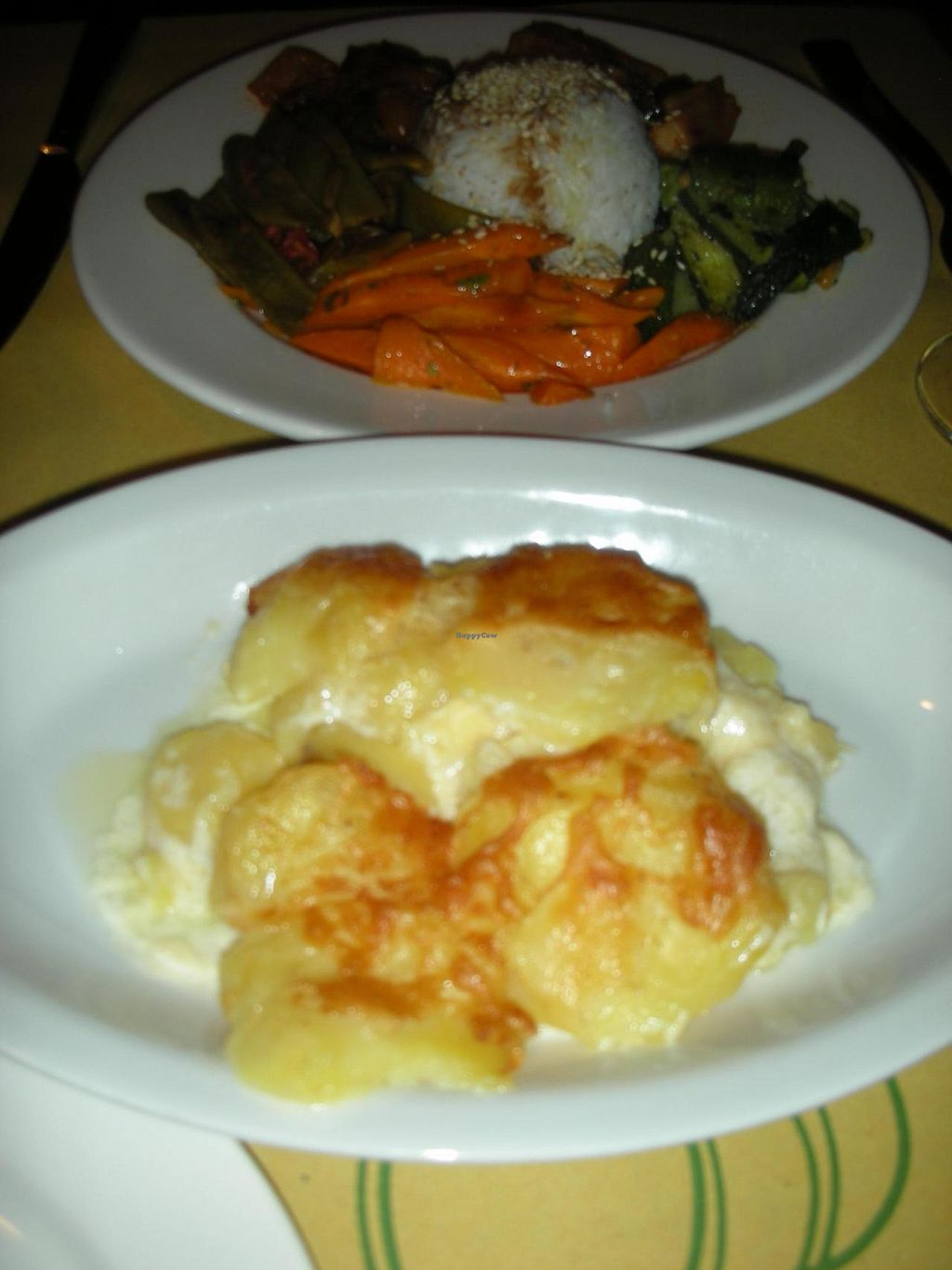 """Photo of La Zucca  by <a href=""""/members/profile/deadpledge"""">deadpledge</a> <br/>Vegetarian Platter and Potato Gratin <br/> June 8, 2014  - <a href='/contact/abuse/image/12774/71620'>Report</a>"""