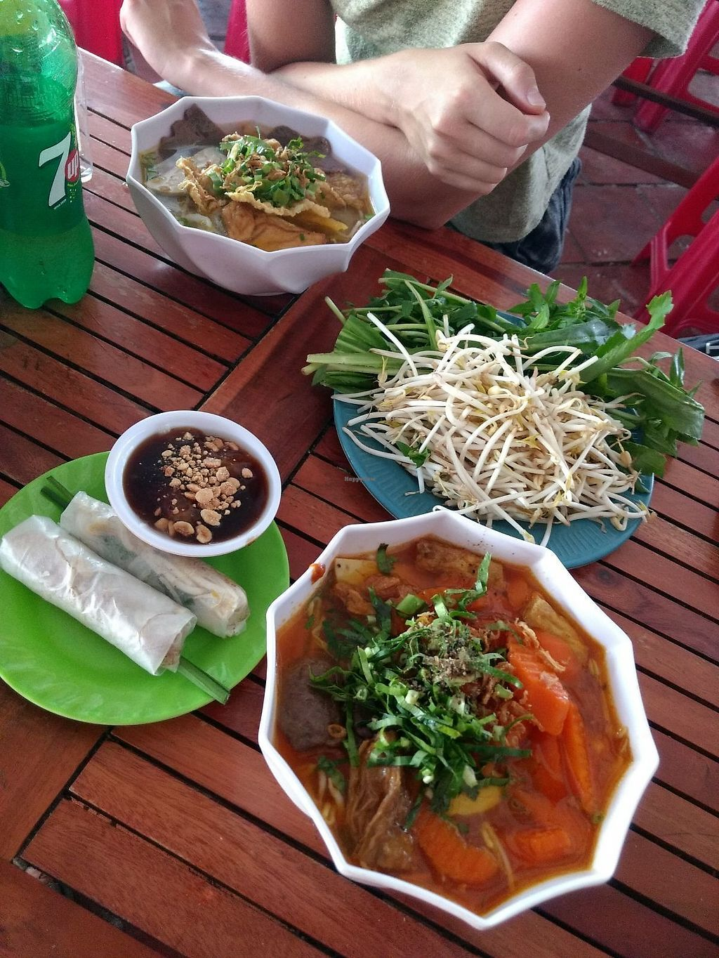 """Photo of Com Chay Cuong  by <a href=""""/members/profile/Kirsikkatuuli"""">Kirsikkatuuli</a> <br/>Soups and springrolls  <br/> March 18, 2018  - <a href='/contact/abuse/image/12793/372335'>Report</a>"""