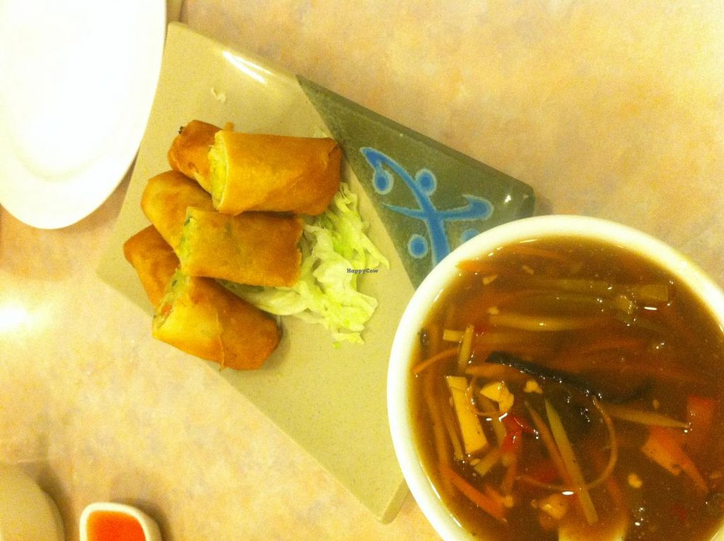 """Photo of Lotus Pond  by <a href=""""/members/profile/Chenley"""">Chenley</a> <br/>Hot and sour soup and spring rolls! <br/> April 6, 2014  - <a href='/contact/abuse/image/1280/67149'>Report</a>"""