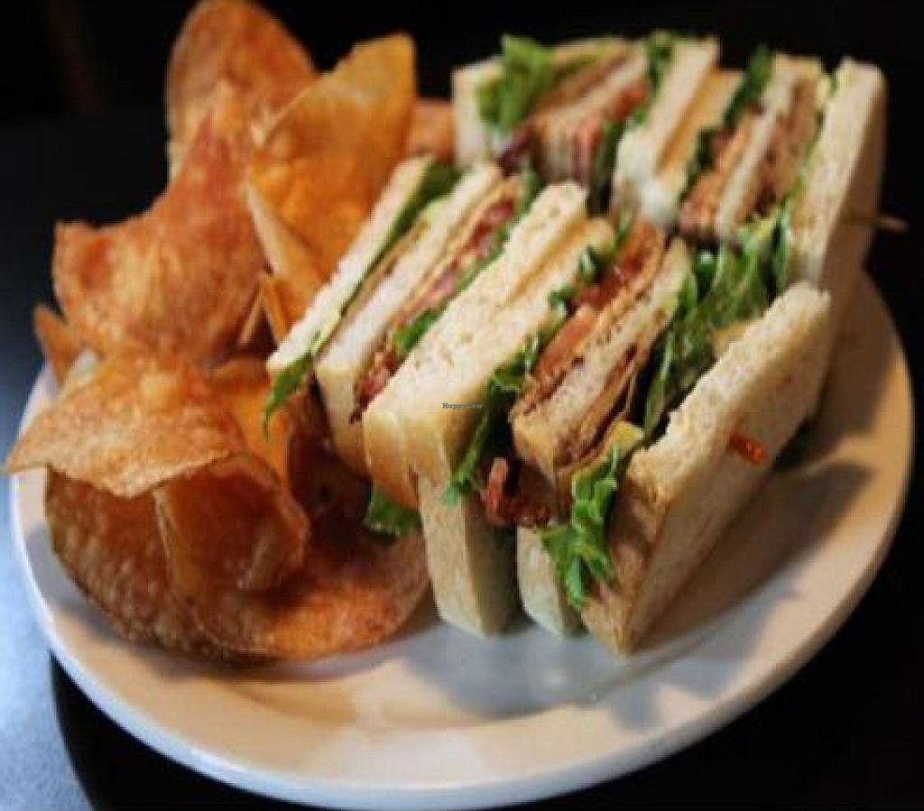 """Photo of Hungry Tiger  by <a href=""""/members/profile/quarrygirl"""">quarrygirl</a> <br/>southeast club: 3 slices of sour dough piled high with tofurky, tempeh bacon, tomato, lettuce, avocado and vegenaise <br/> December 27, 2011  - <a href='/contact/abuse/image/12821/189532'>Report</a>"""